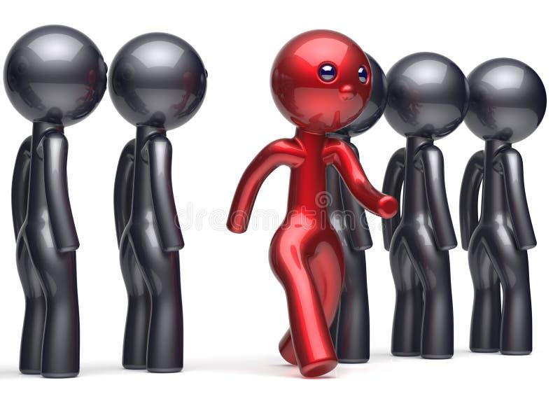 Diverso carácter único inusual de la gente se destaca de la muchedumbre libre illustration