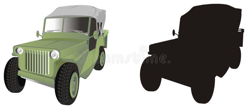 Diverso coche del ejército dos ilustración del vector