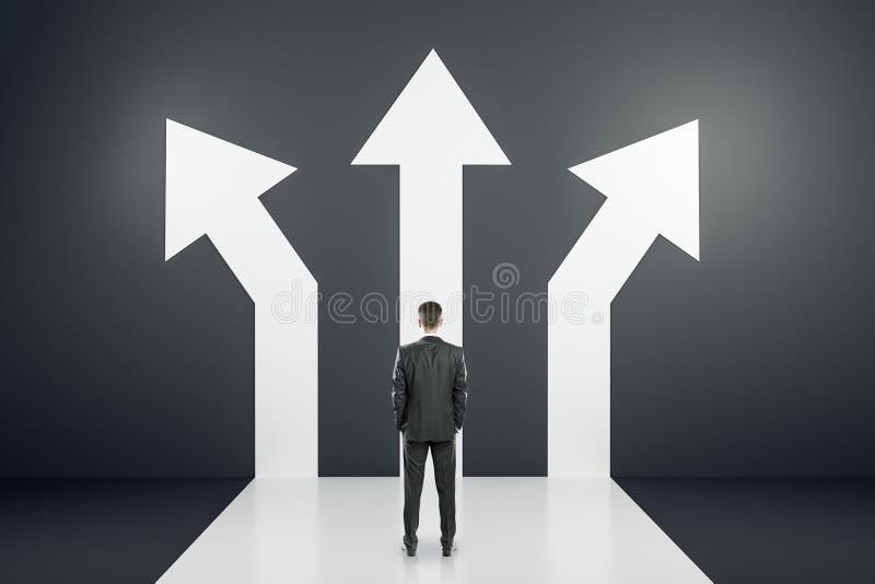 Diverso concepto de la dirección y del éxito libre illustration