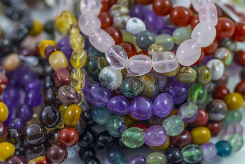 Diverso Crystal Bracelets bonito imagem de stock