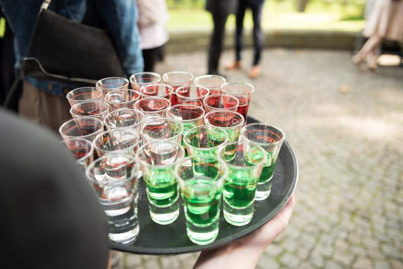 Diverso de bebida del alcohol fotos de archivo