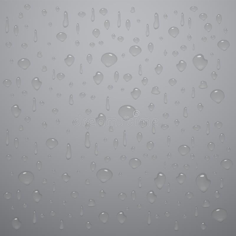 Diverso descenso del agua con la sombra y la reflexión libre illustration