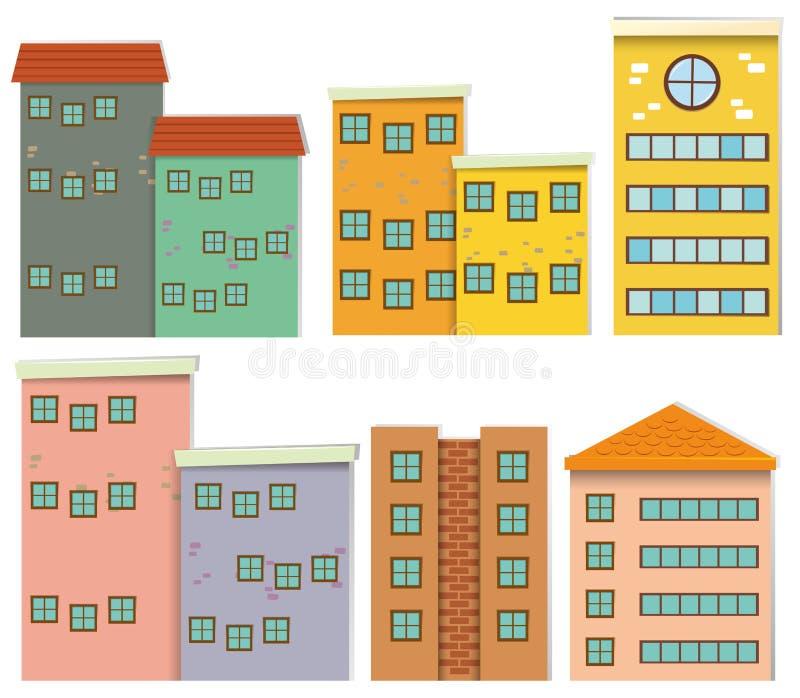 Diverso diseño de edificios libre illustration