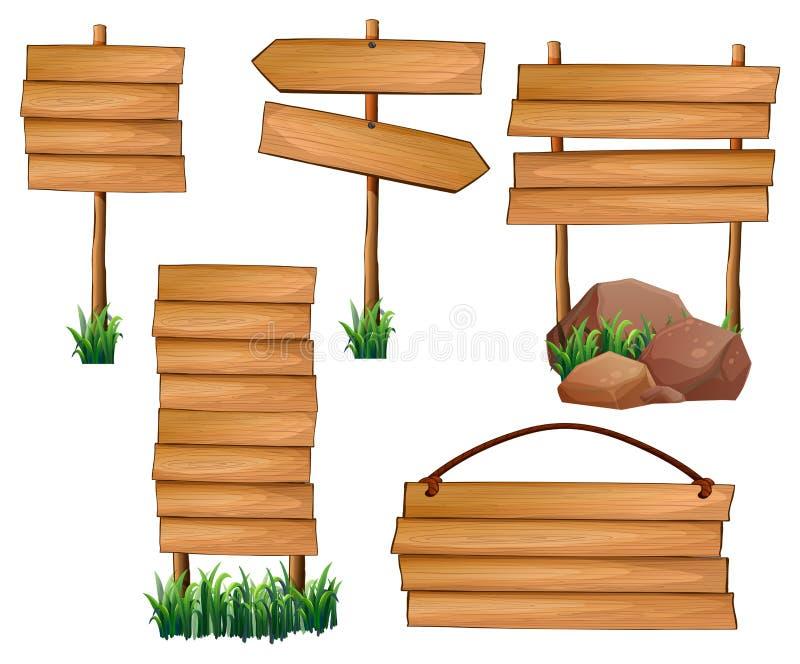 Diverso diseño de tableros stock de ilustración