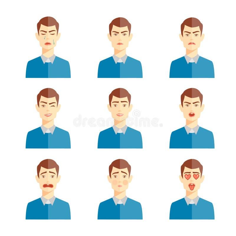 Diverso ejemplo de las emociones libre illustration