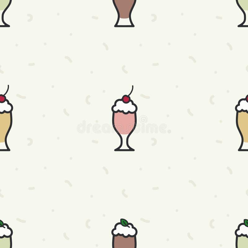 Diverso fondo de los batidos de leche stock de ilustración