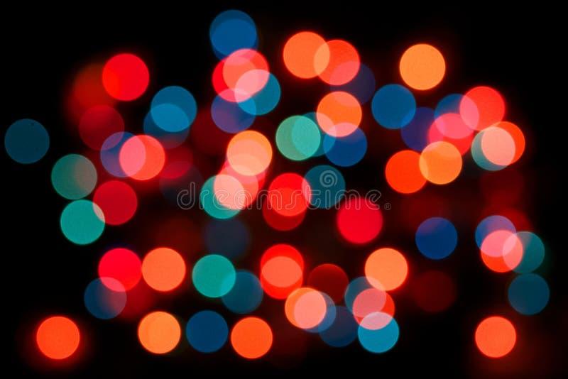 Diverso fondo multicolor de la luz de bulbo de los colores, efecto de la bombilla, mucha opinión colorida del extracto del bulbo,  fotografía de archivo