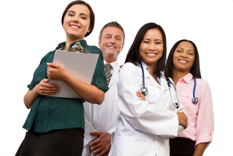 Diverso gruppo di fornitori di cure mediche fotografie stock