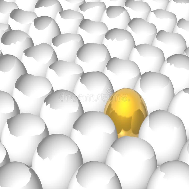 Diverso huevo ilustración del vector