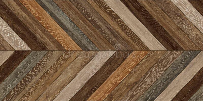 Diverso marrón del entarimado del galón horizontal de madera inconsútil de la textura imagen de archivo