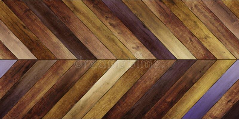 Diverso marrón del entarimado del galón horizontal de madera inconsútil de la textura imagenes de archivo