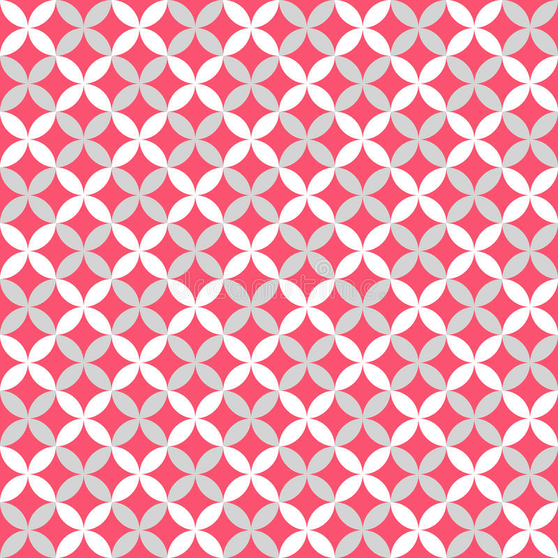 Diverso modelo inconsútil lindo Rosado, blanco y ilustración del vector