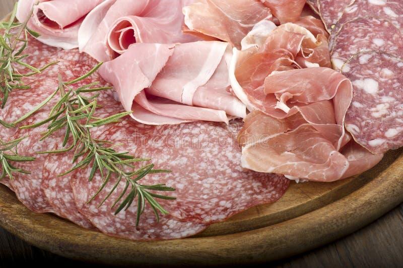 Diverso salami italiano fotografía de archivo libre de regalías