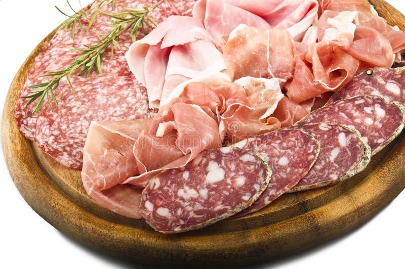 Diverso salami italiano imagen de archivo
