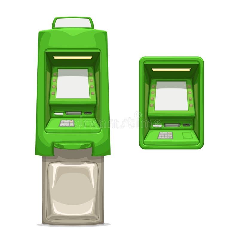 Diverso sistema verde de los atms en blanco libre illustration