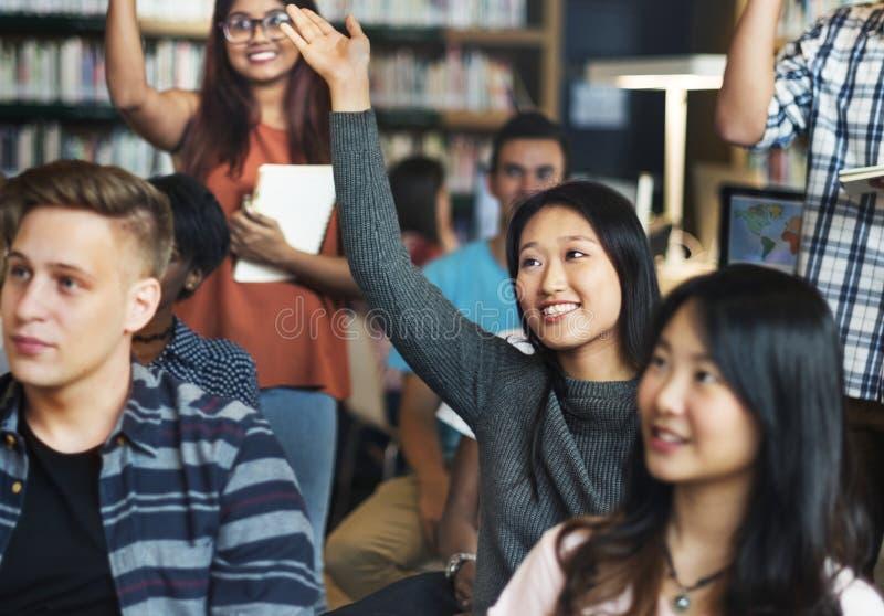 Diverso studente nella classe A fotografia stock libera da diritti