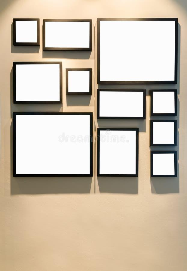 Diverso tamaño del bastidor negro de la foto foto de archivo libre de regalías