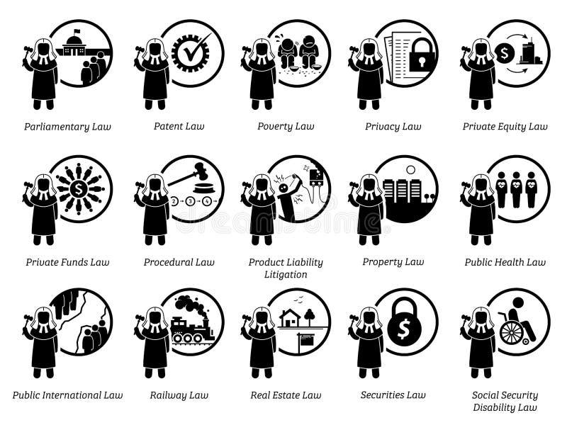 Diverso tipo de leyes Parte 6 de 7 stock de ilustración