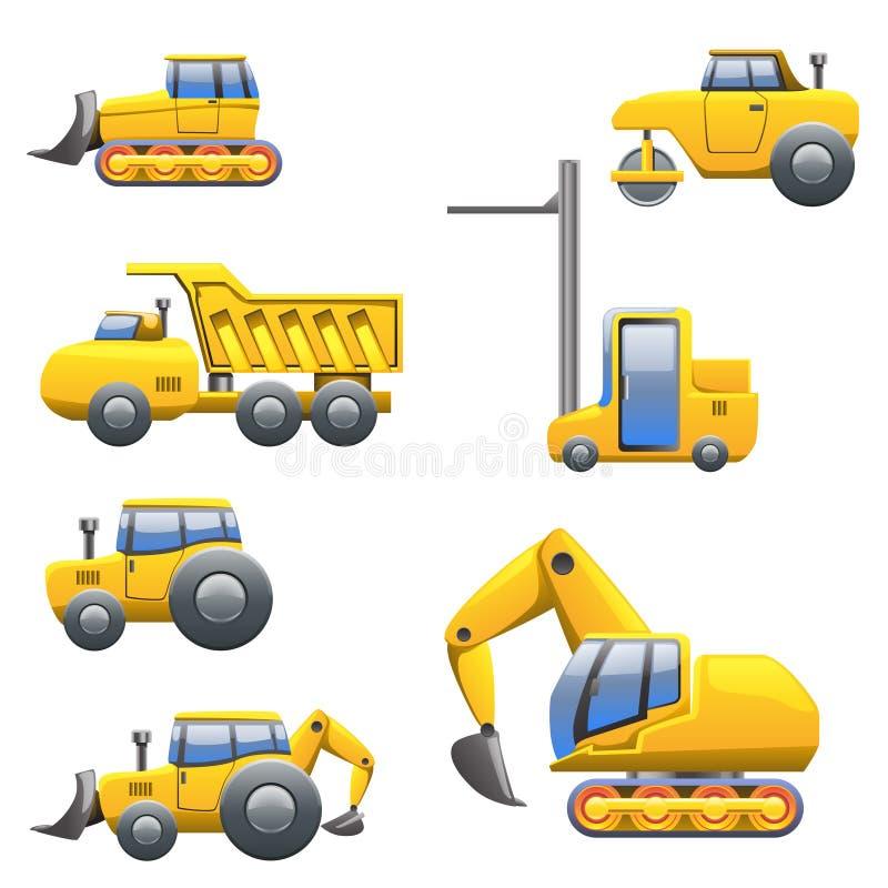 Diverso tipo de tractores ilustración del vector