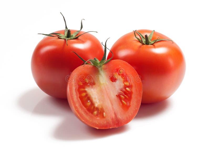 Diverso tomate vermelho no branco foto de stock