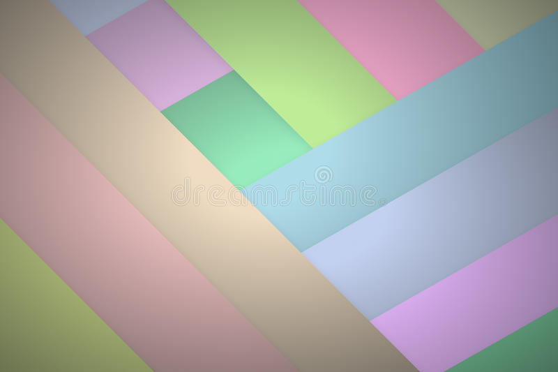 Diverso tono del color del pastel pela el fondo con el terraplén de la pendiente ilustración del vector