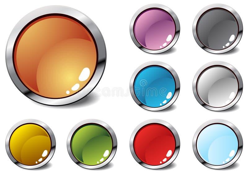 Download Diversos ícones coloridos ilustração stock. Ilustração de vidro - 12802038