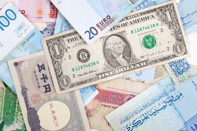 Diversos billetes de banco fotografía de archivo libre de regalías