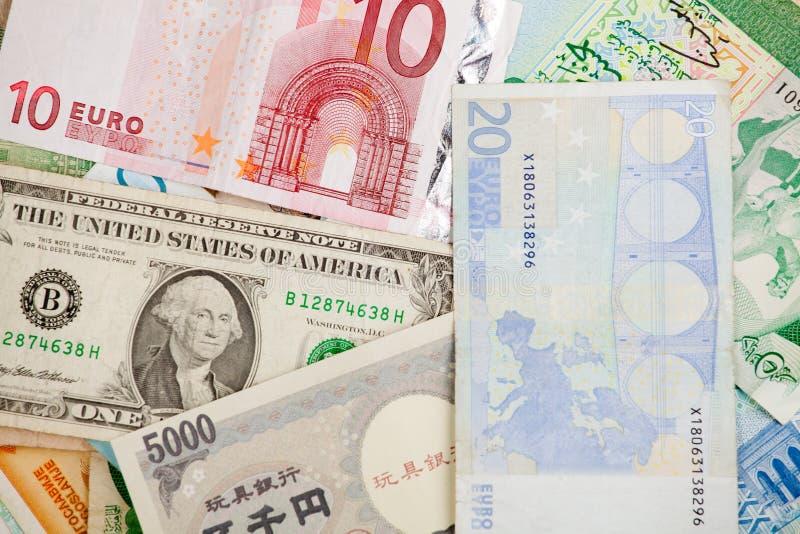 Diversos billetes de banco foto de archivo libre de regalías