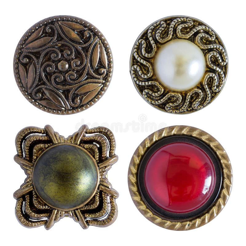 Diversos botones de costura aislados fotos de archivo libres de regalías