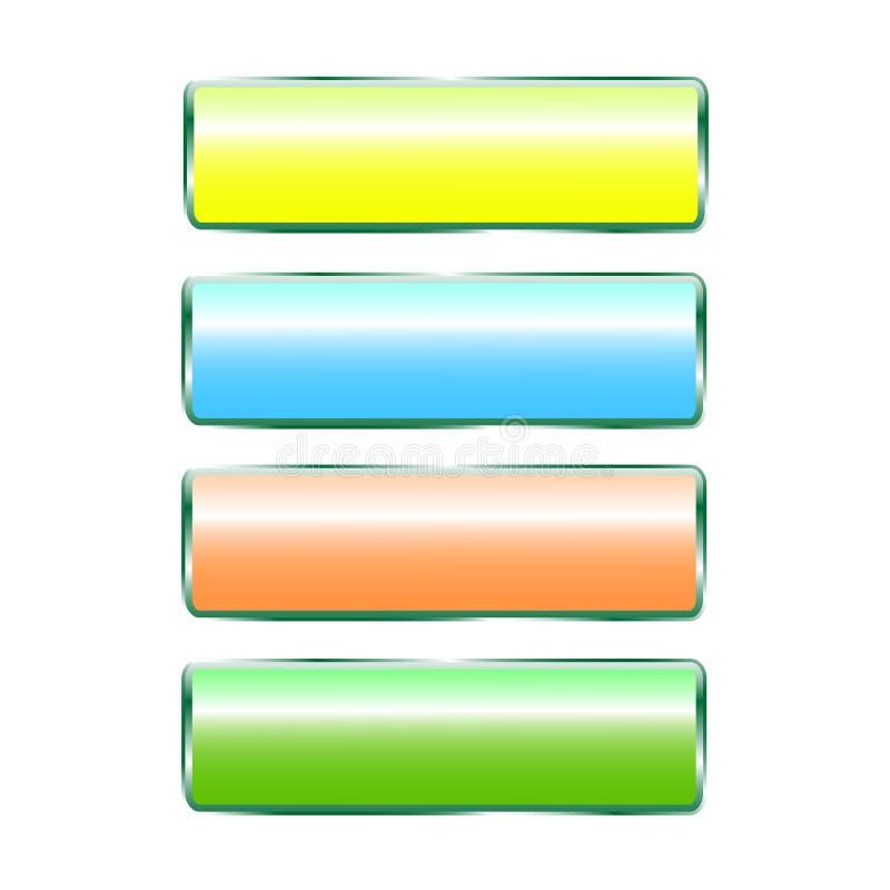 Diversos botones del color con diseño especial stock de ilustración