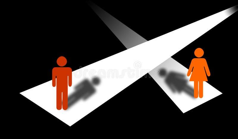 Diversos caminos ilustración del vector