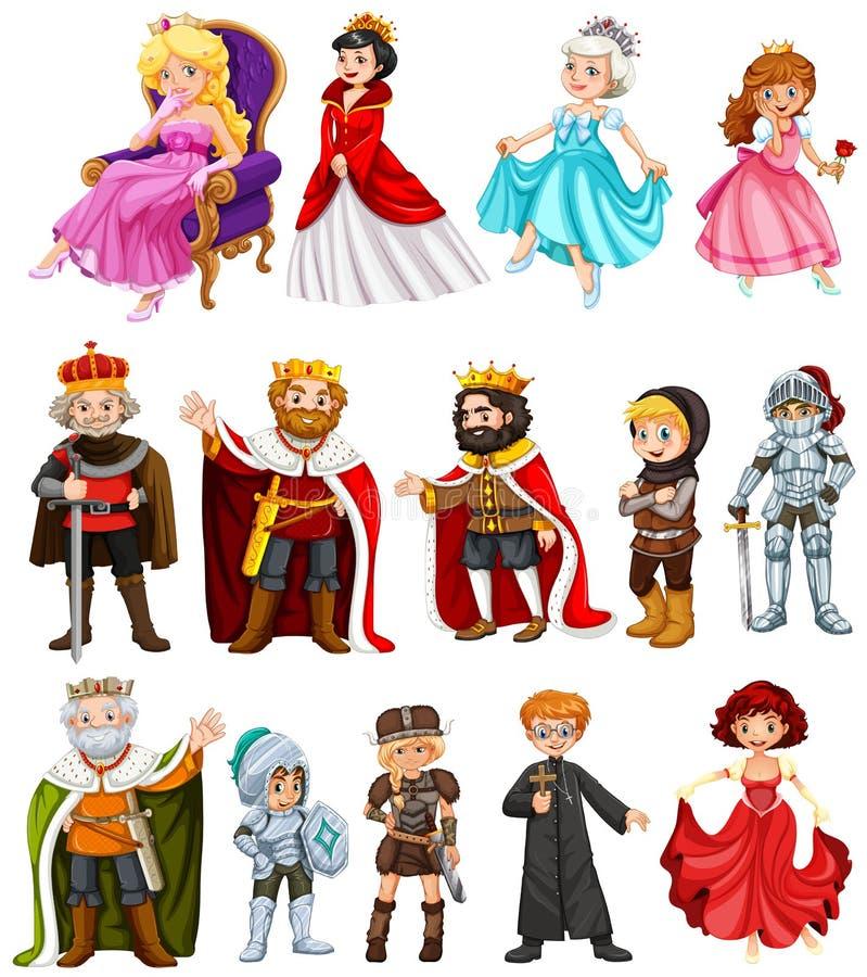 Diversos caracteres del rey y de la reina libre illustration