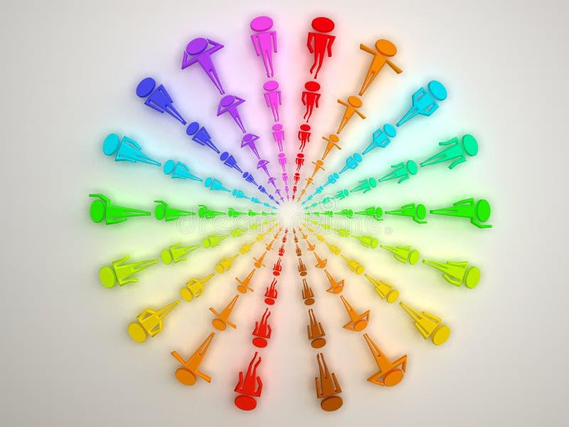 Diversos colores de la gente imagen de archivo libre de regalías