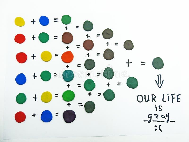 Diversos Colores De Mezcla Del Plasticine Foto de archivo - Imagen ...
