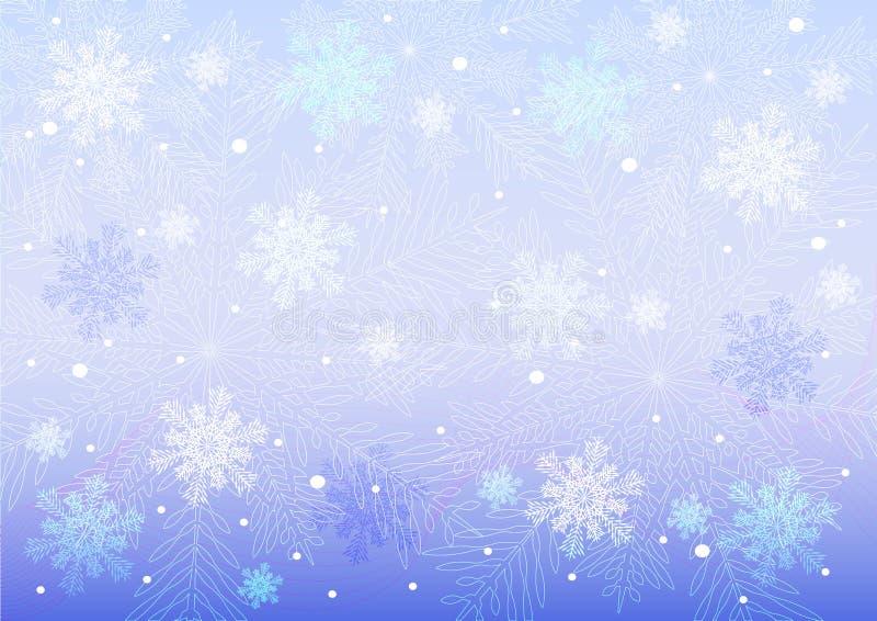 Diversos copos de nieve libre illustration