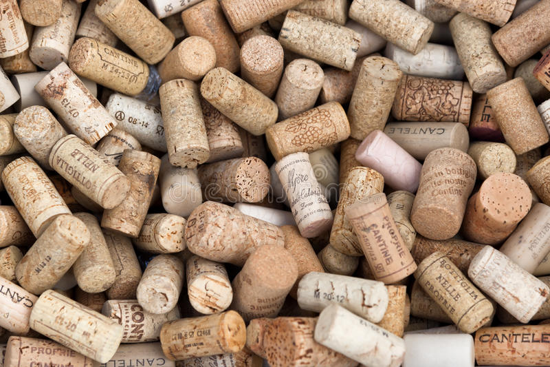 Diversos corchos italianos del vino foto de archivo