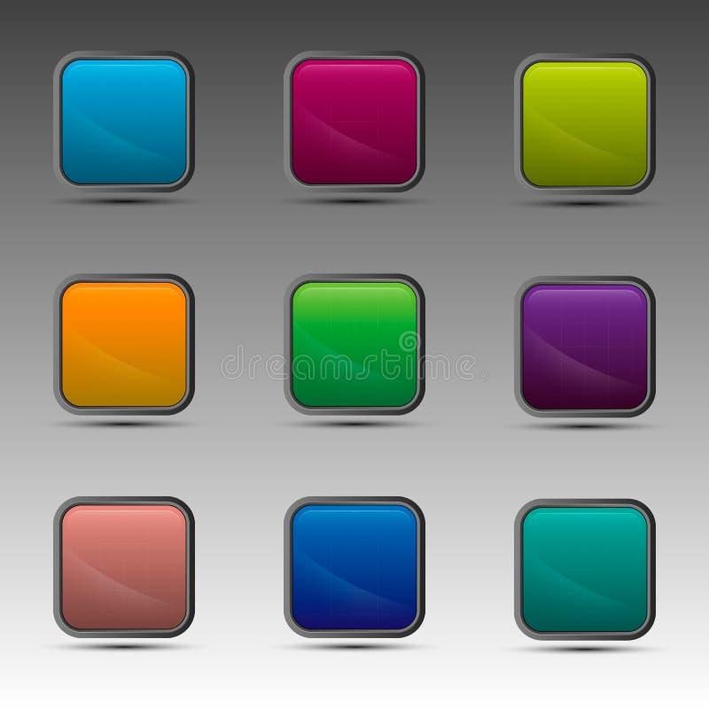 Diversos cuadrados coloridos stock de ilustración
