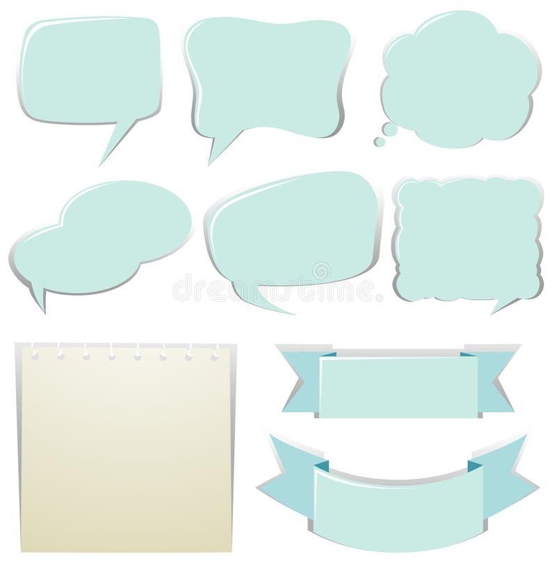 Diversos diseños de burbujas del discurso libre illustration