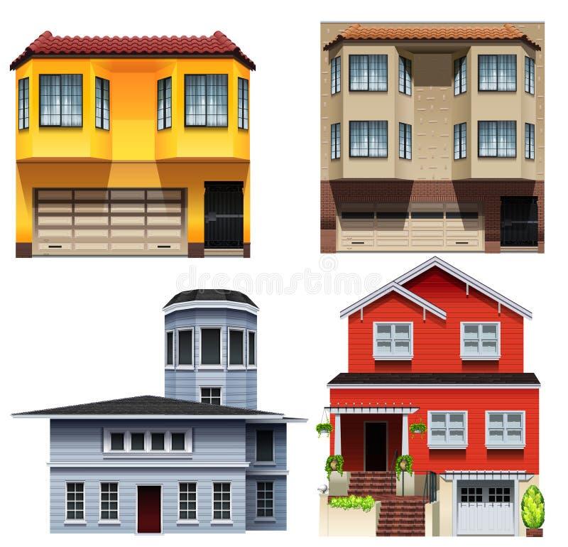 Diversos diseños del edificio libre illustration