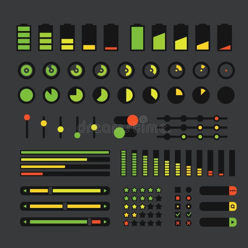 Diversos elementos del diseño de interfaz stock de ilustración