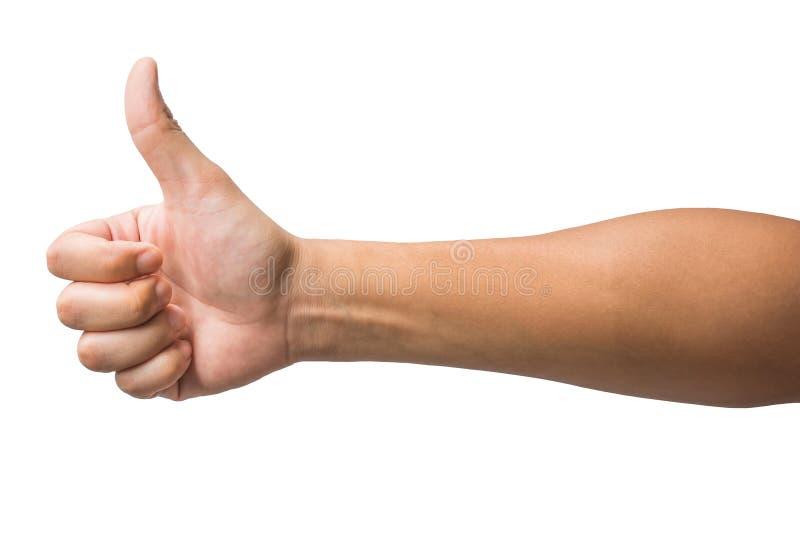 Diversos gestos y muestra de la mano del hombre aislados en el fondo blanco con la trayectoria de recortes foto de archivo libre de regalías