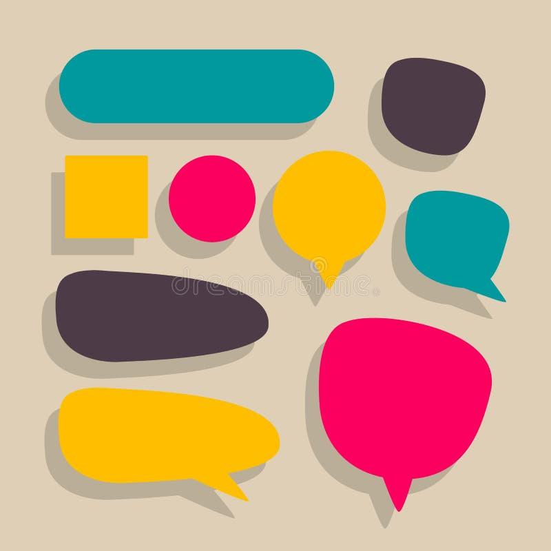 Diversos globos de discurso ilustración del vector