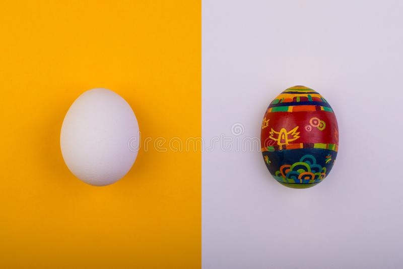 Diversos huevos Concepto de Pascua Endecha plana imagen de archivo libre de regalías