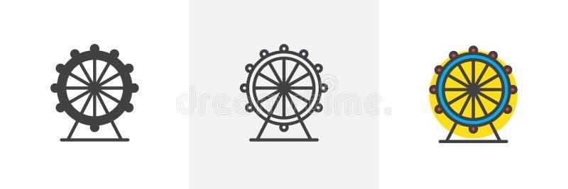 Diversos iconos del estilo de la noria libre illustration