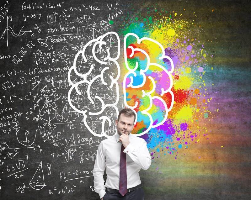 Diversos lados del cerebro stock de ilustración