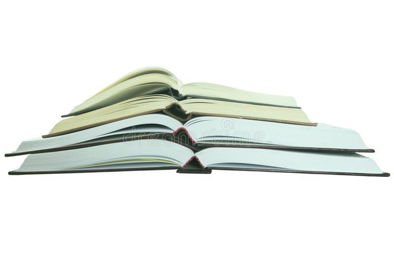 Diversos livros abertos fotografia de stock royalty free