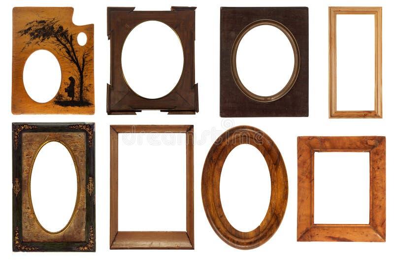 Diversos marcos de la vendimia imagenes de archivo