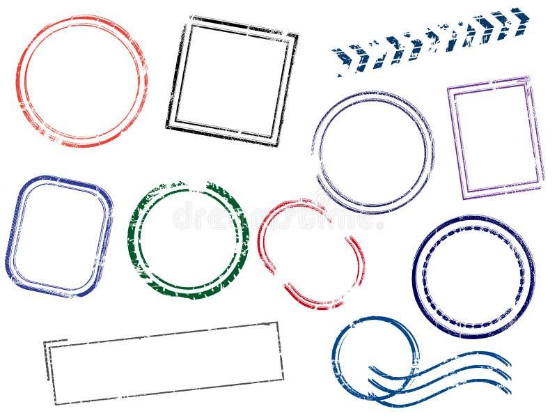 Diversos marcos de los sellos stock de ilustración