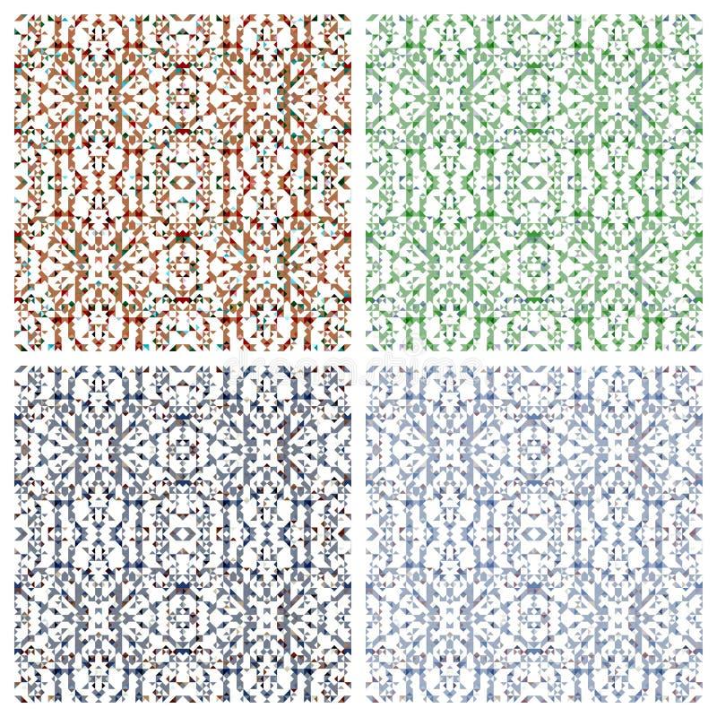 Diversos modelos abstractos stock de ilustración