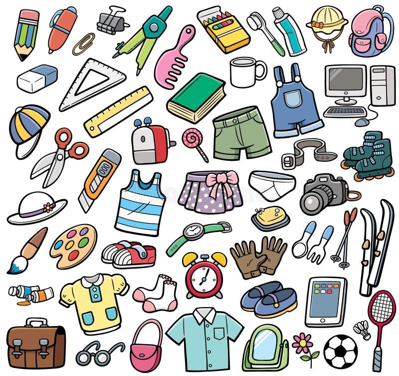 Diversos objetos del vector libre illustration